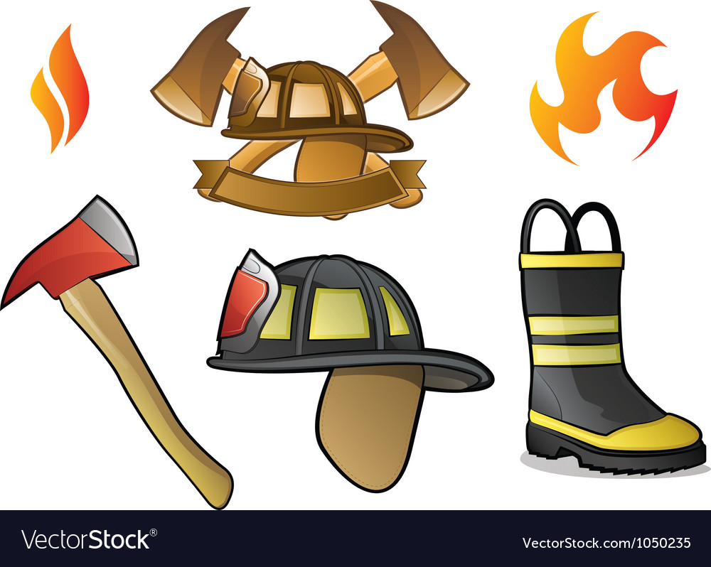 Firefighter Icons and Fire Symbols
