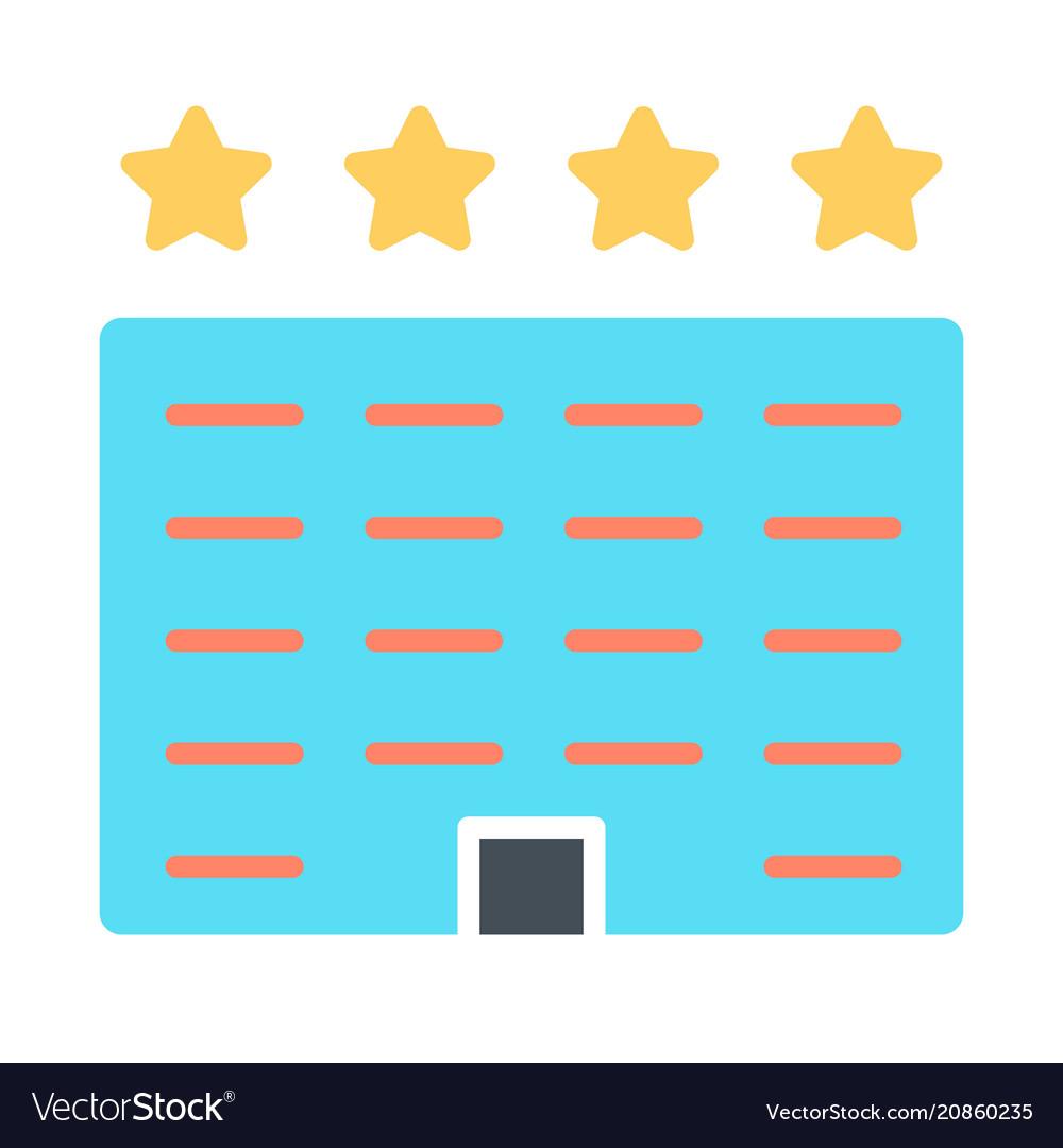 Hotel icon simple minimal 96x96 pictogram