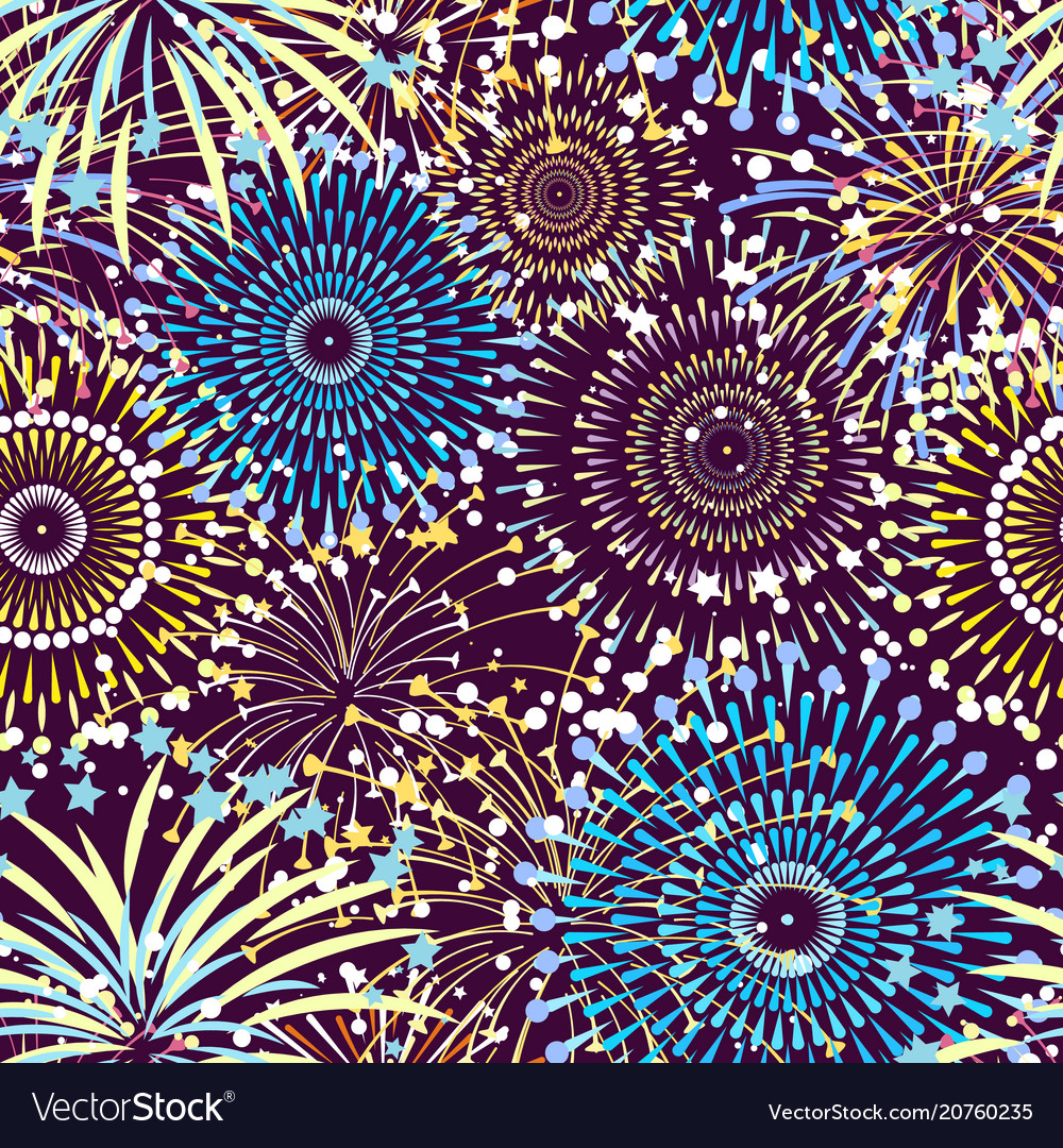 Pattern or background with fireworks