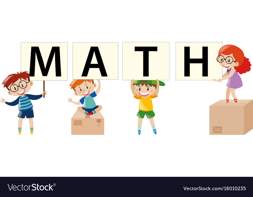 Poster Design With Kids And Math Royalty Free Vector Image