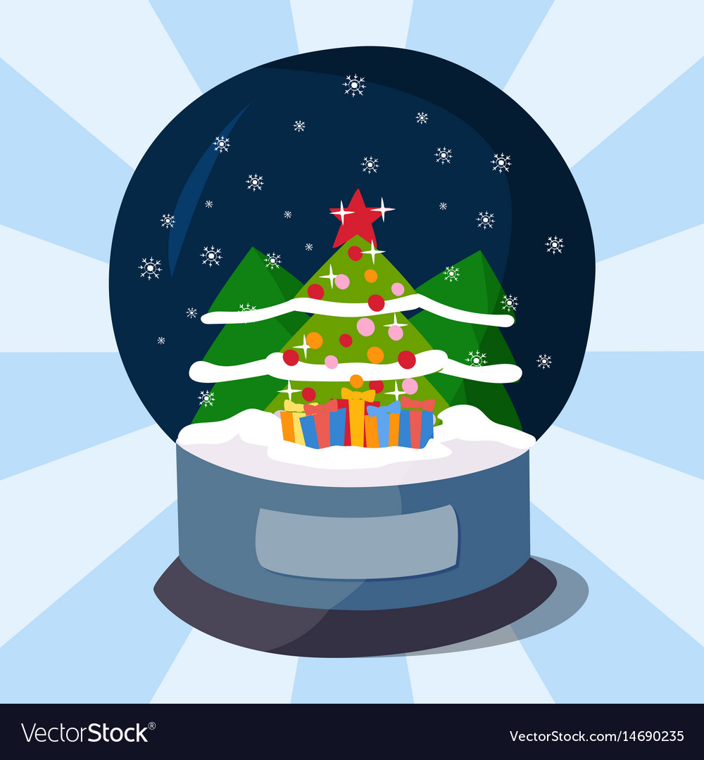 Snow clobe christmas magic ball transparent