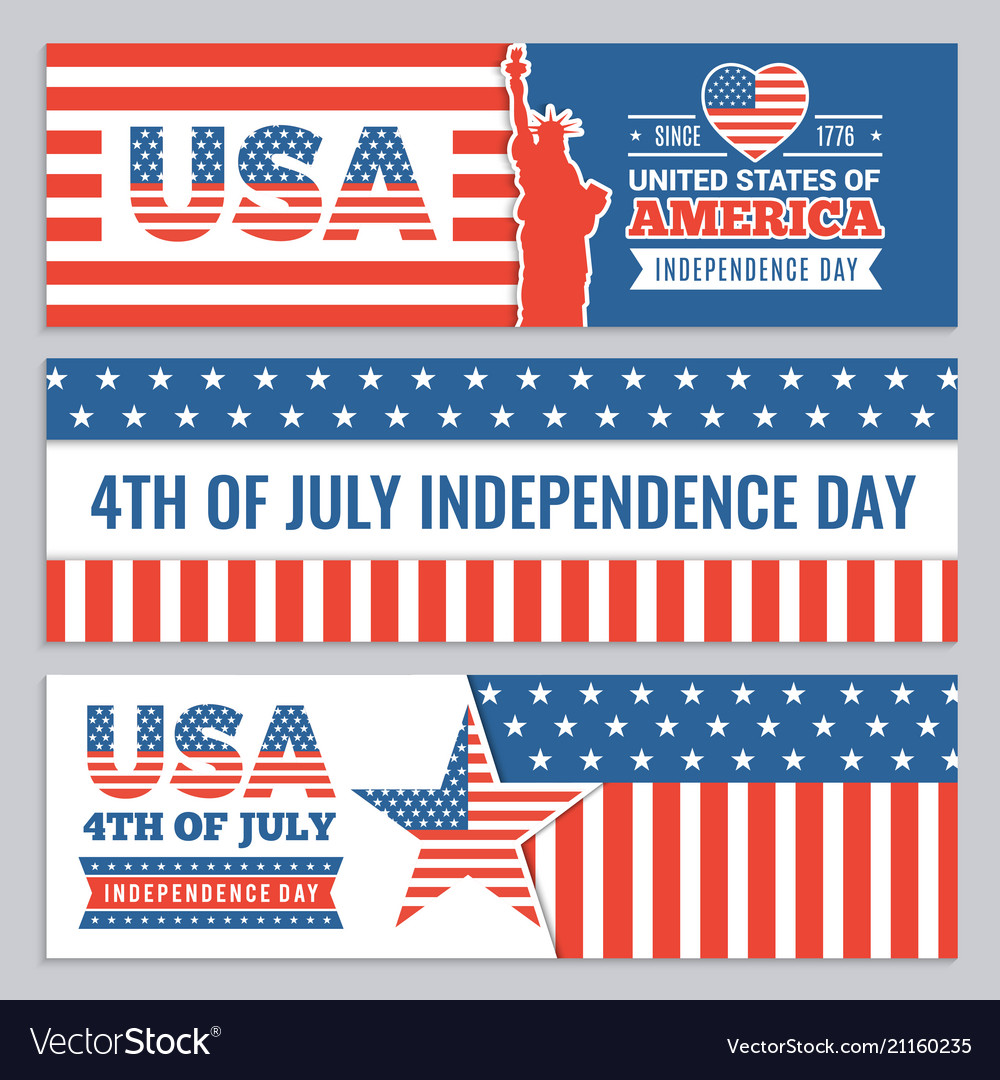 Web banners of usa independence day design