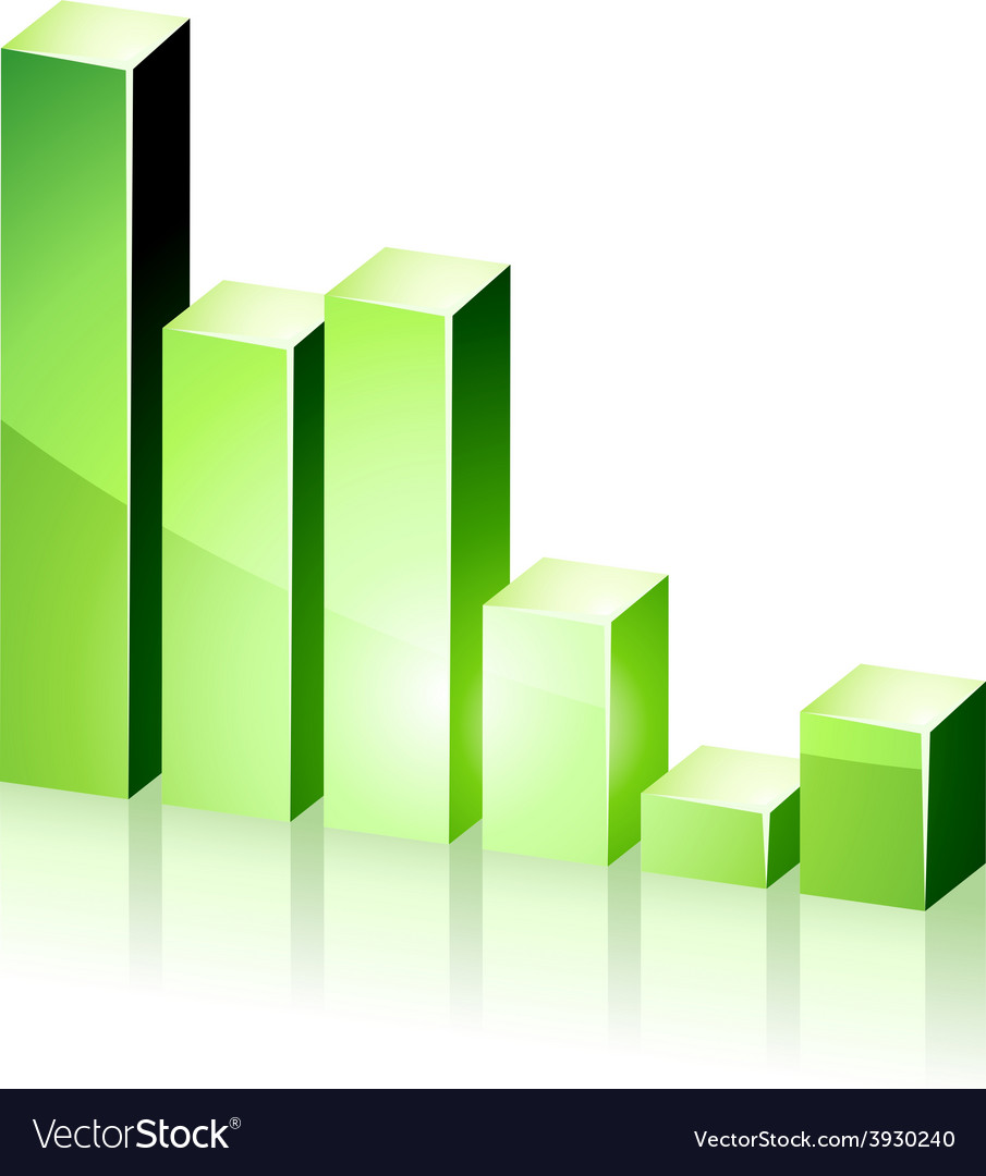 3d green diagram vector image