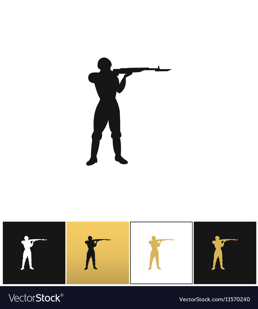 Army soldier silhouette icon