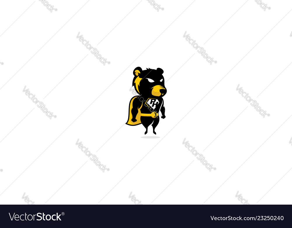 Bear superhero logo icon