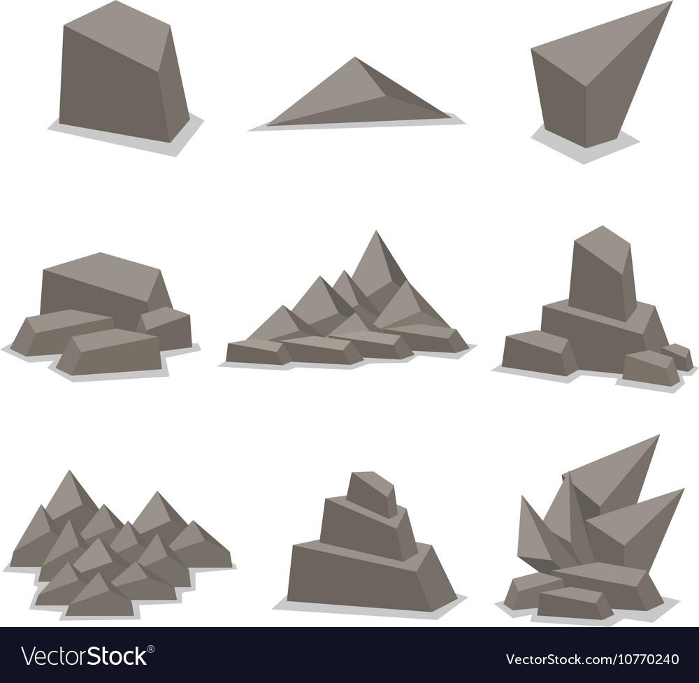 Gray stone set art