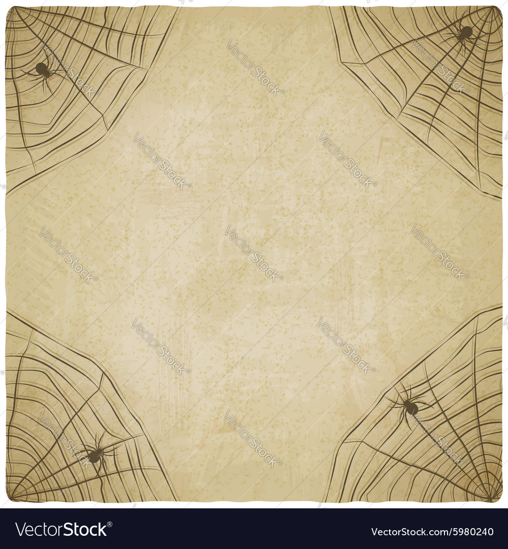 Halloween vintage background with spider web