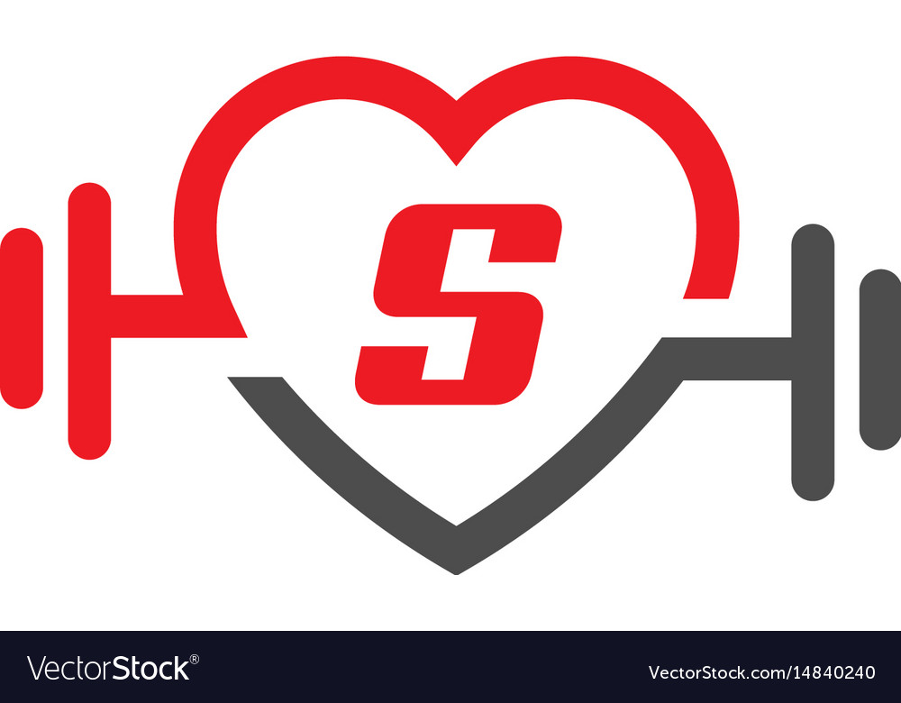 Love fit with letter s logo