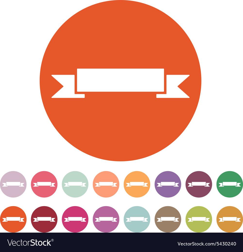 The banner icon Ribbon symbol Flat vector image