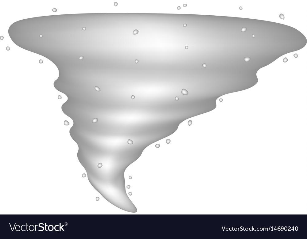 Tornado in silver design vector image