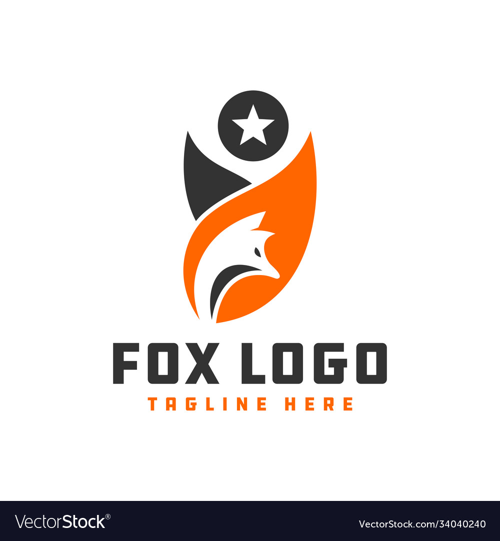 Wild fox animal logo