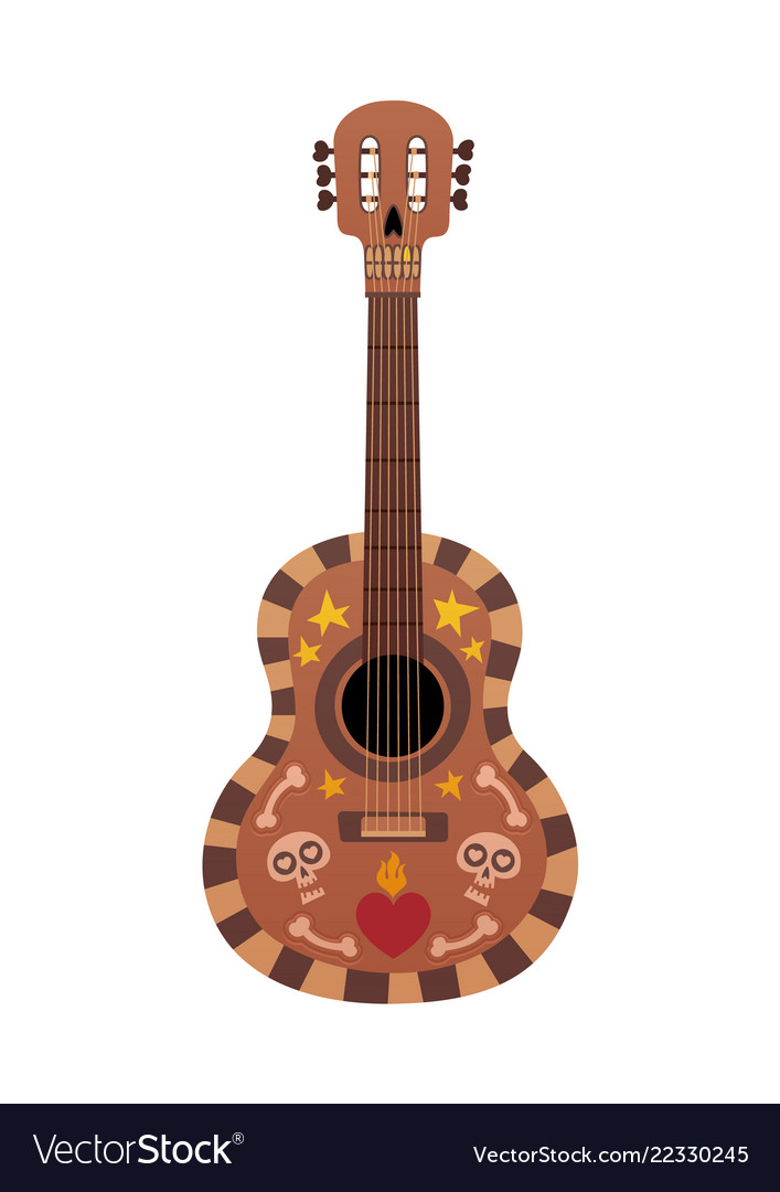 Beautiful guitar with design for