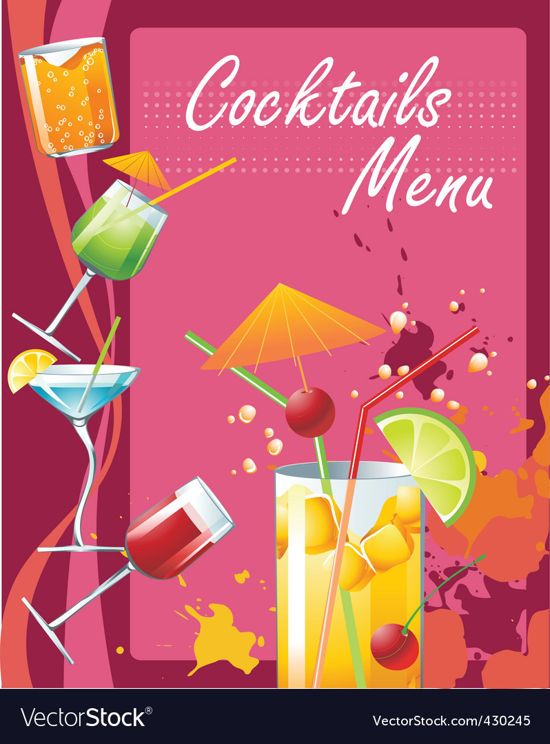 Cocktails menu