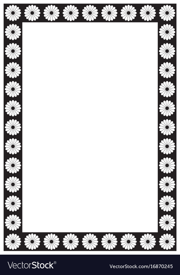 Flower Page Border A4 Design For Project