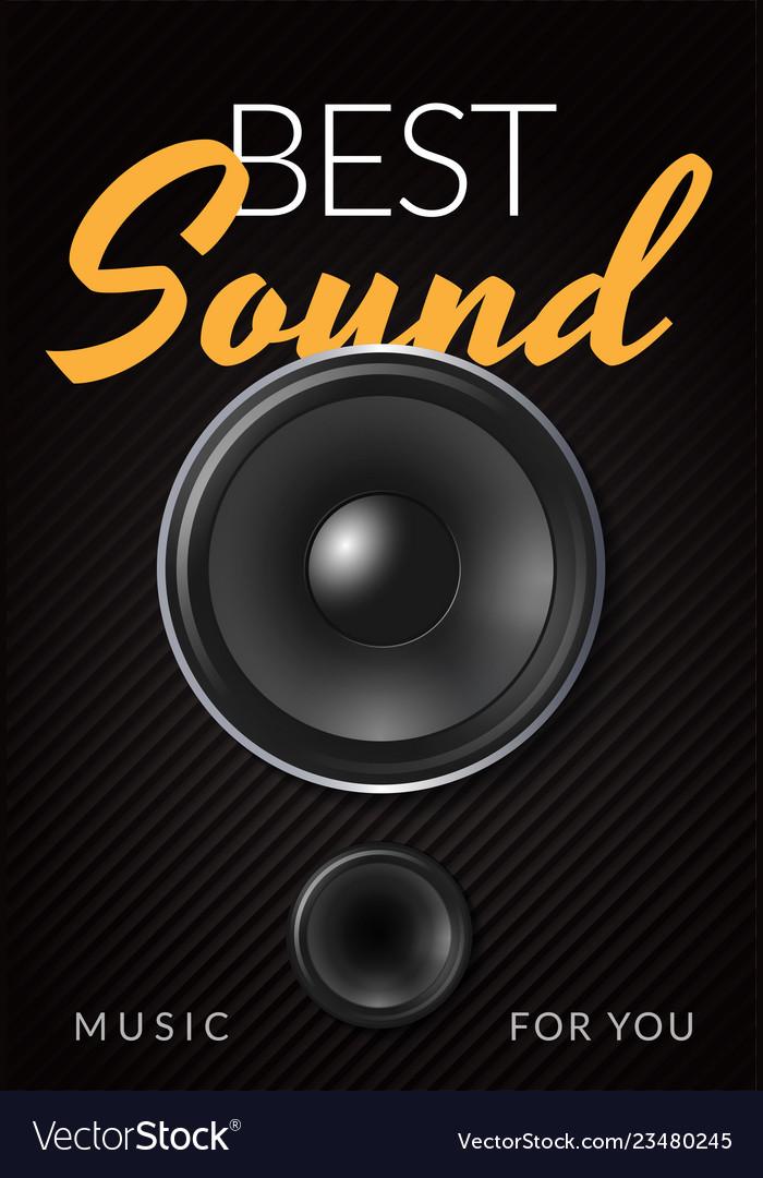 Realistic loud speaker advertising poster