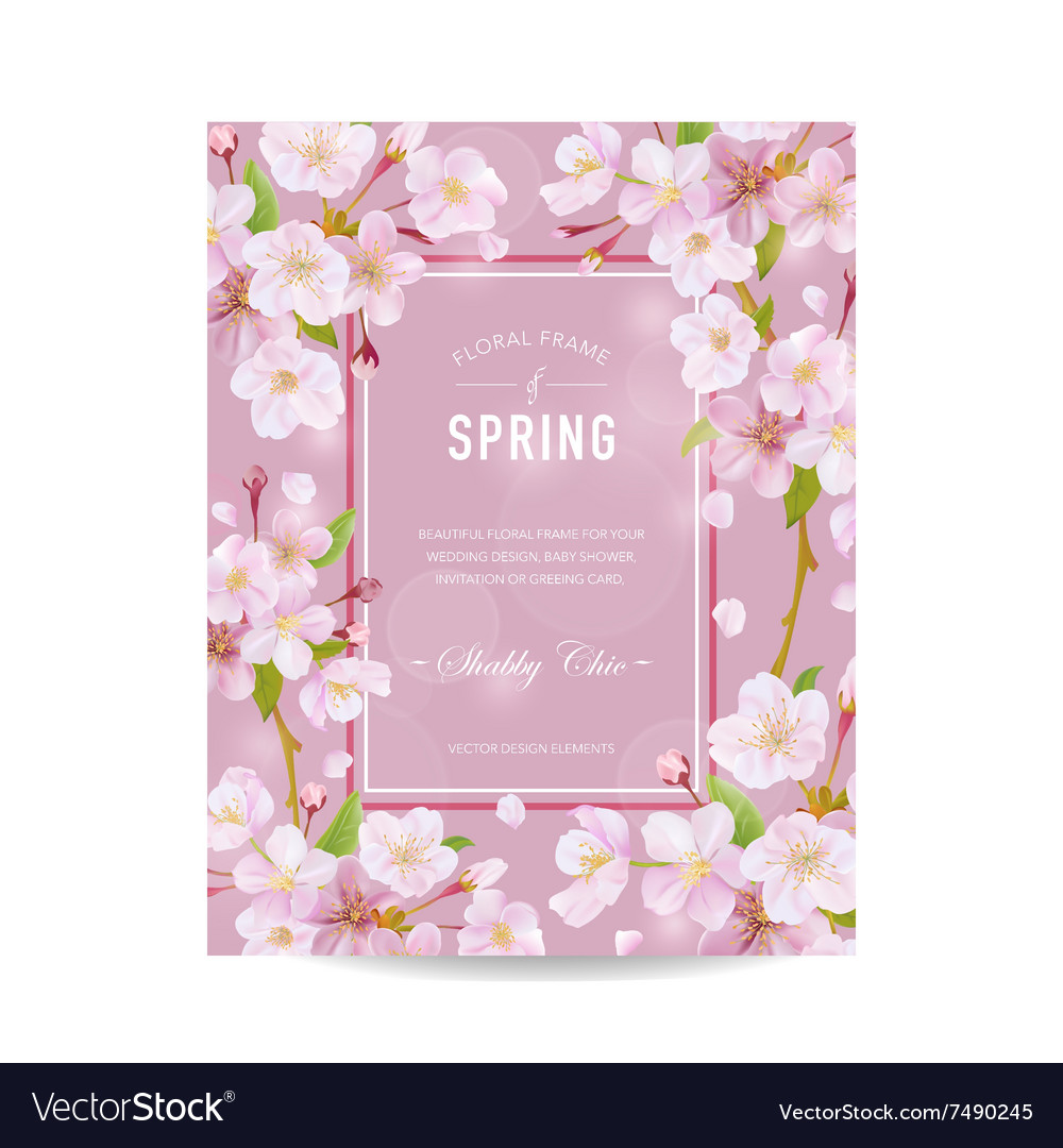 Spring card with cherry blossom royalty free vector image spring card with cherry blossom vector image filmwisefo