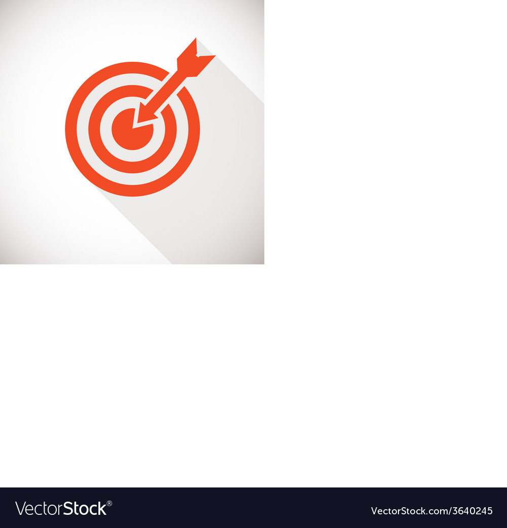 Target icon Logo concept with long shadow