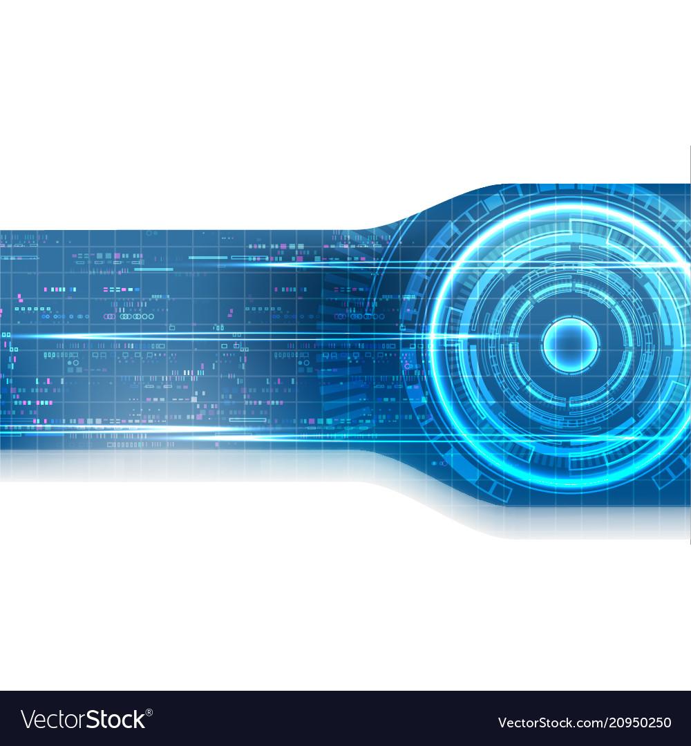 Blue pixel digital technology background