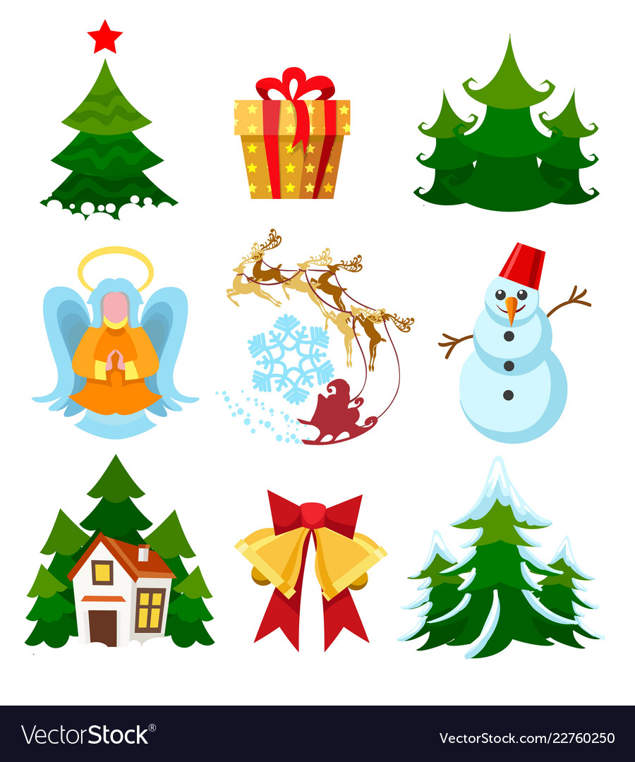 Colored xmas icons