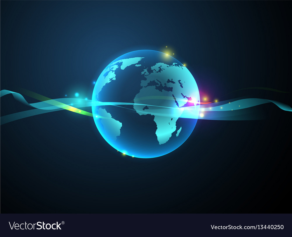 Earth hologram abstract background