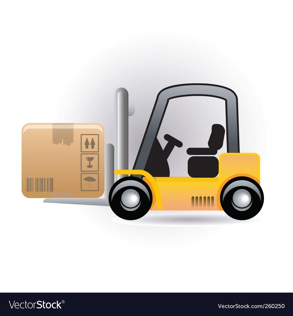 Forklift vector image