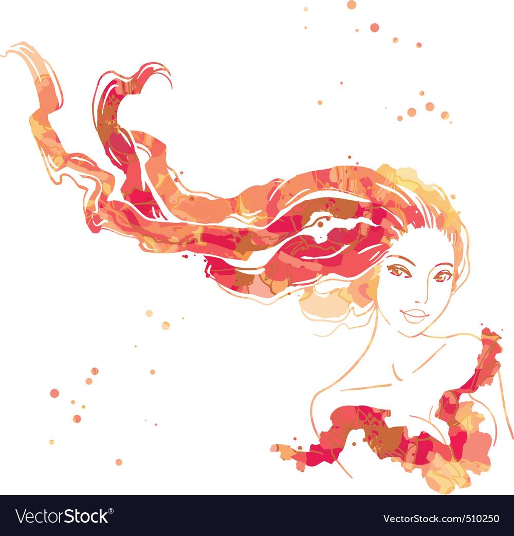 Portrait of beautiful women vector image