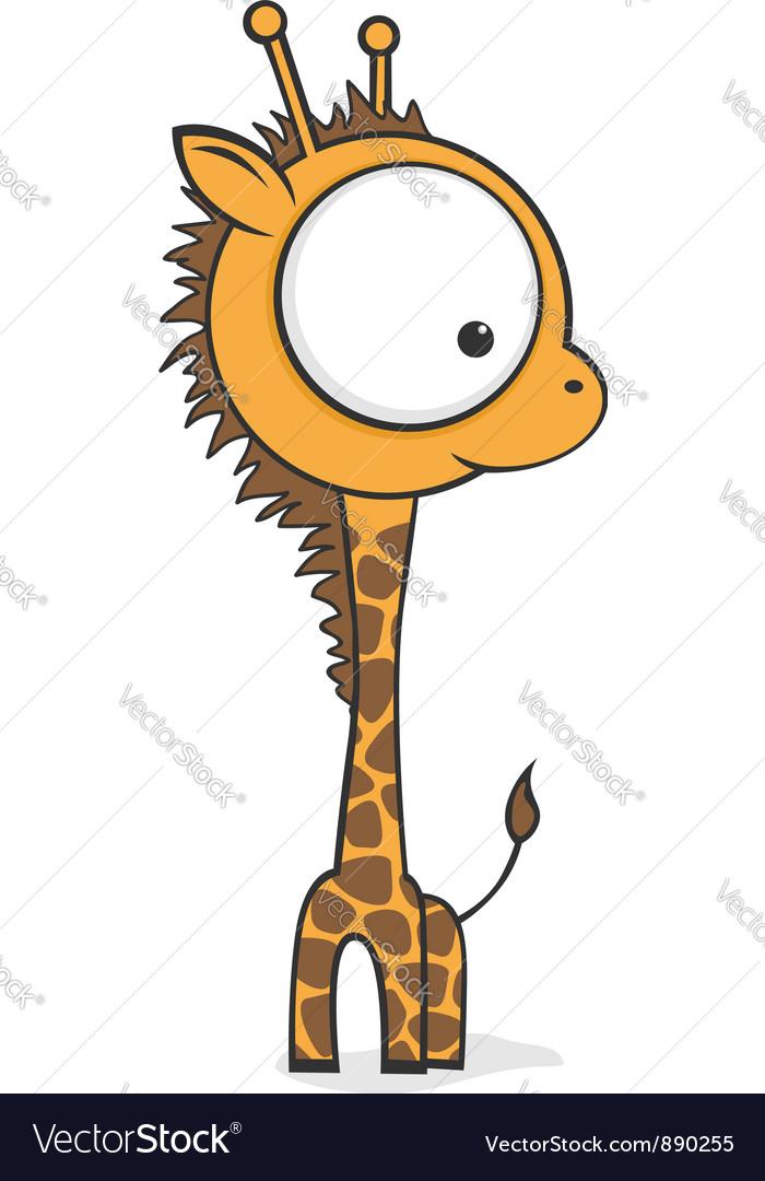 Big eyed giraffe vector image