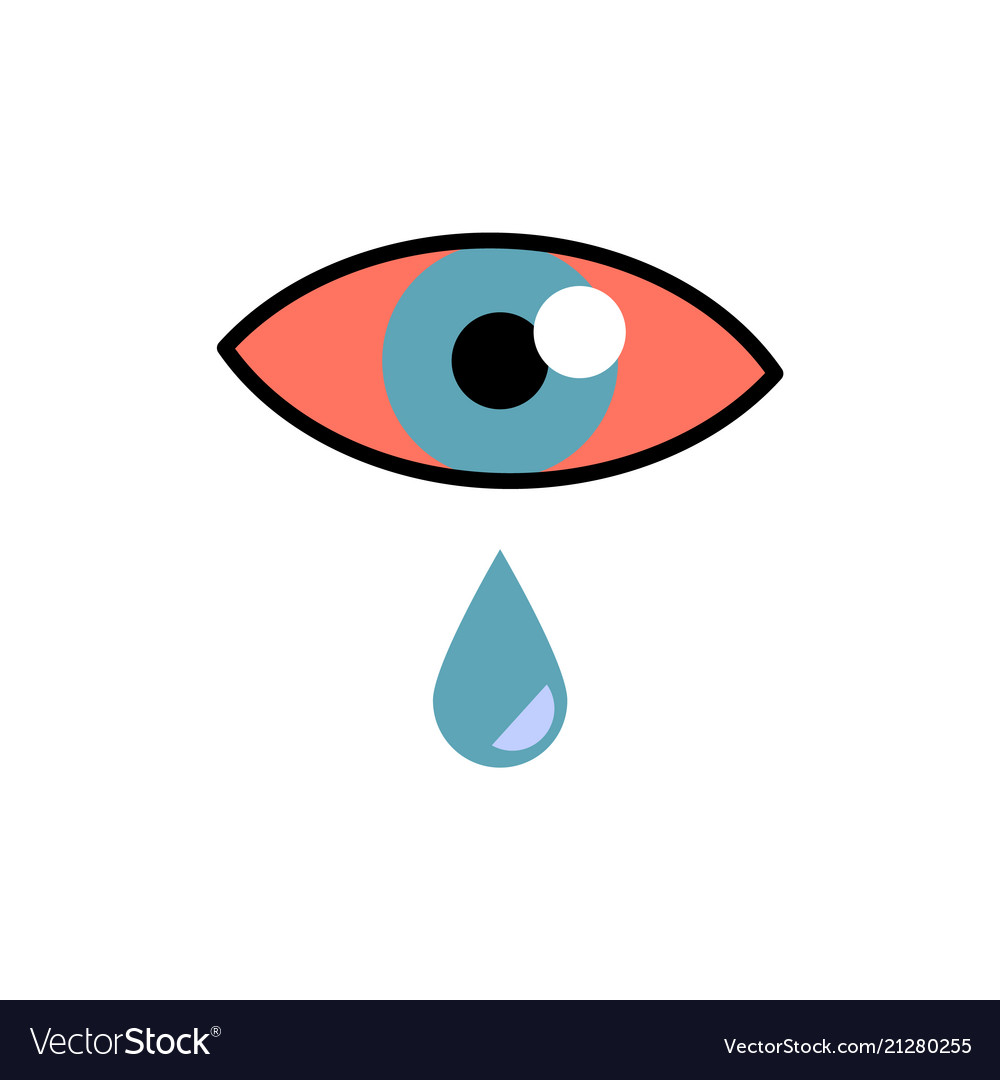 Conjunctivitis concept with red eye and