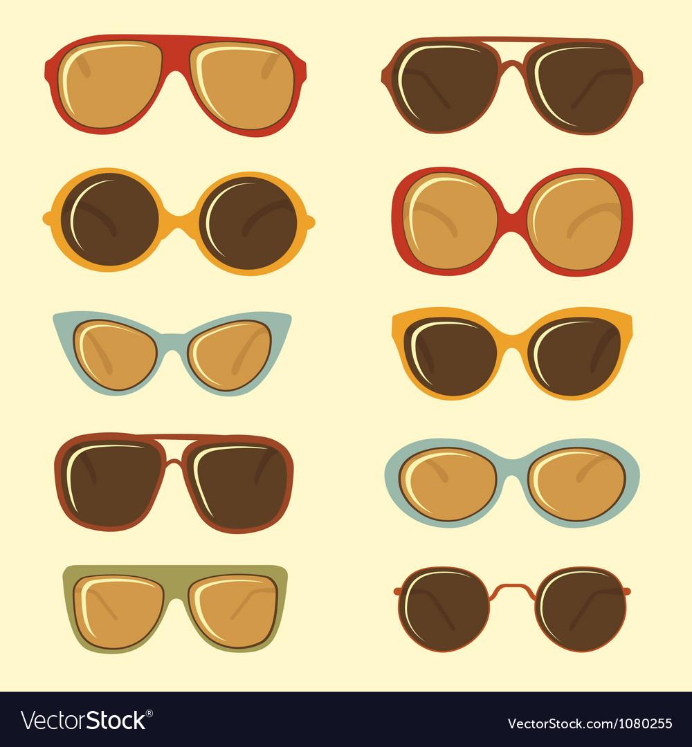 Fashion sunglasses set vector image