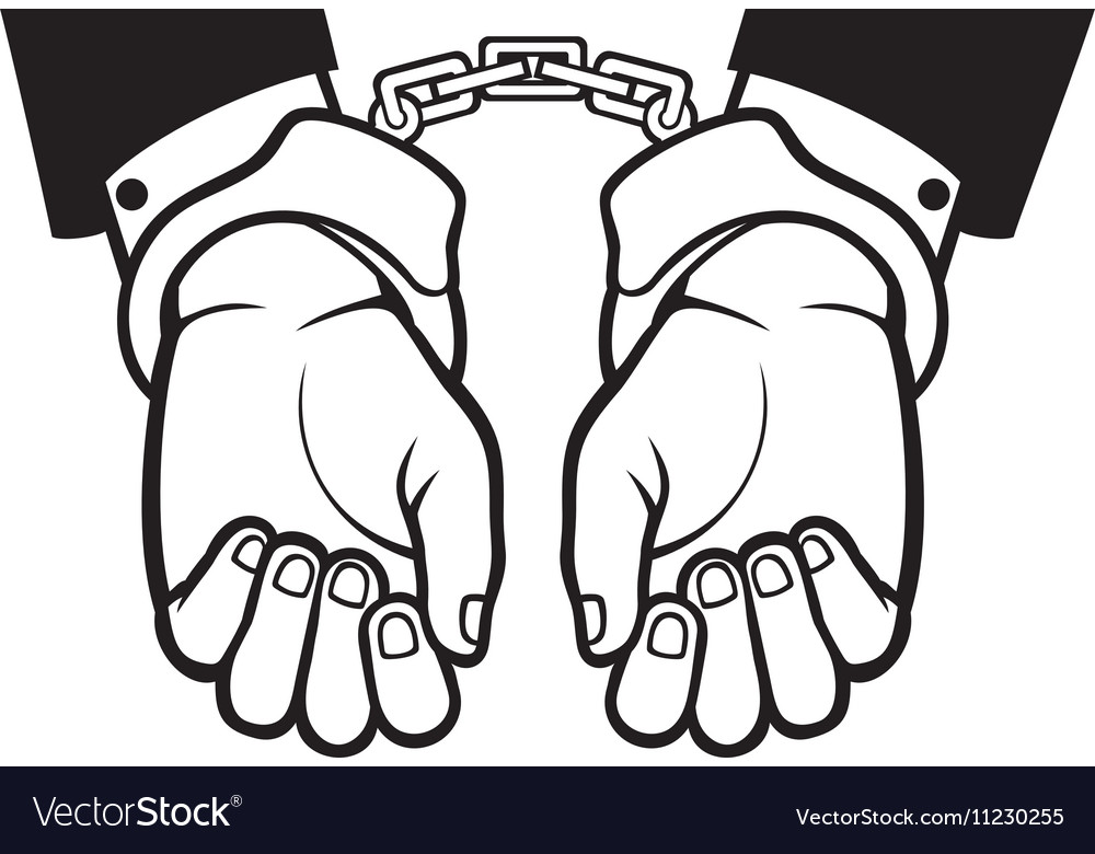 Hands In Handcuffs Icon Royalty Free Vector Image