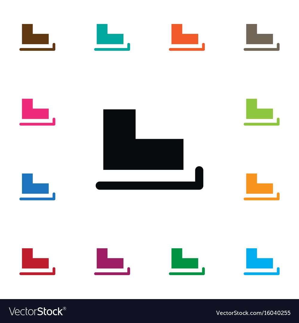 Isolated skates icon slide element can be vector image