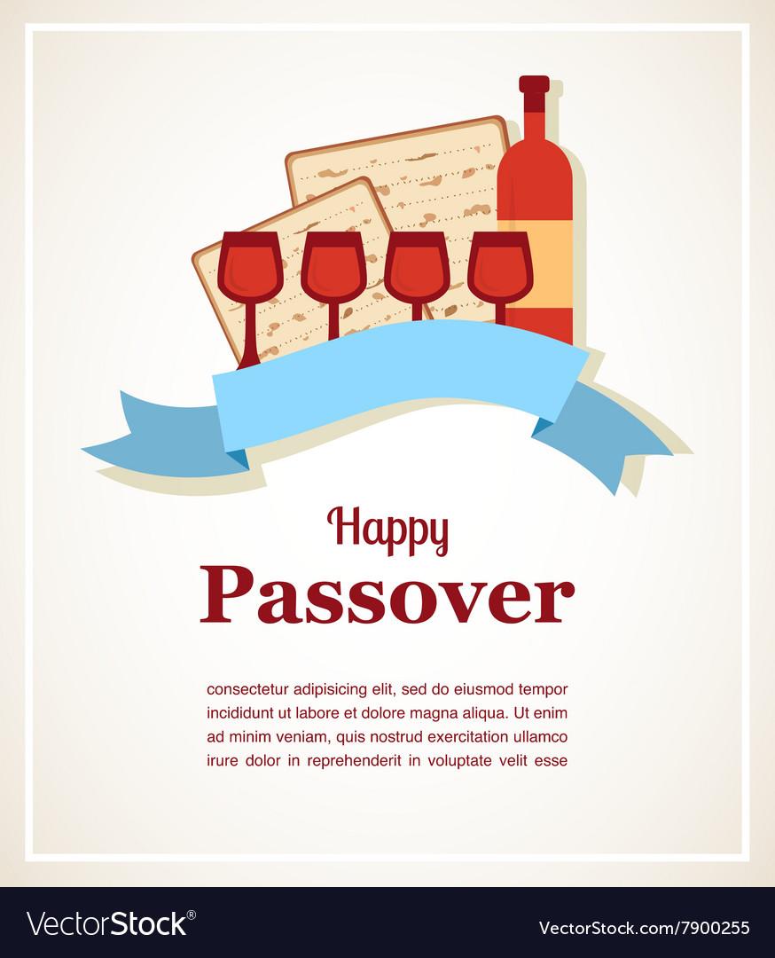 Jewish passover holiday greeting card design