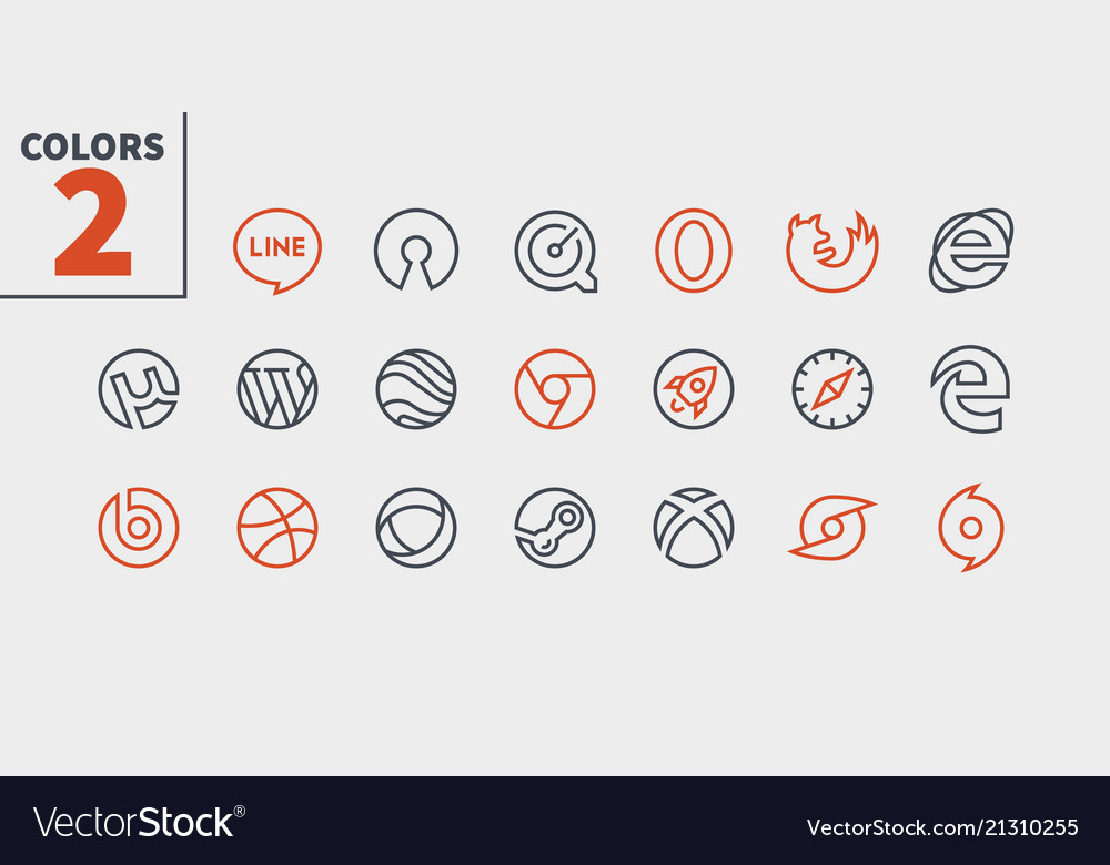 Logos ui pixel perfect well-crafted thin