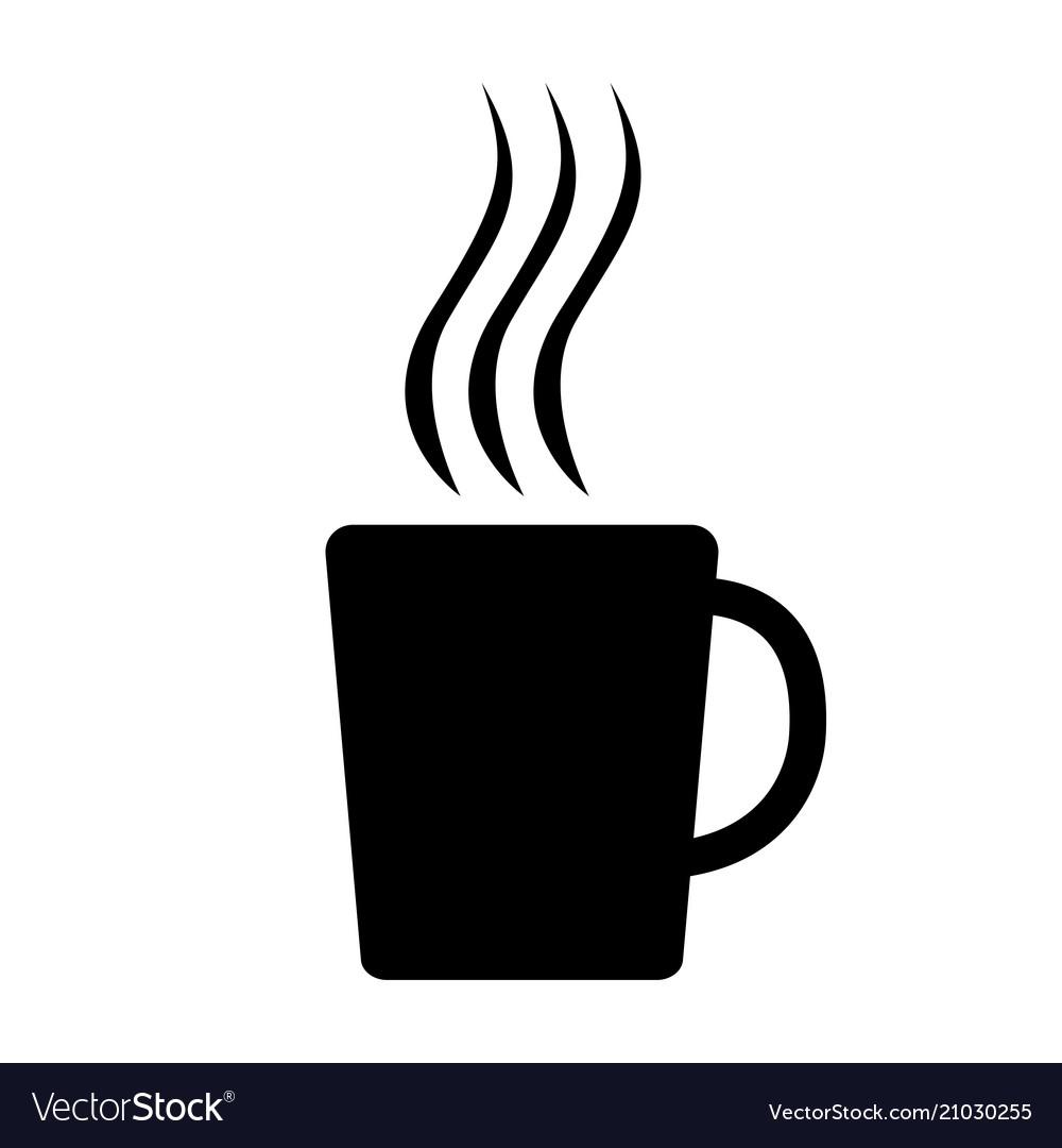 Mug icon black silhouette