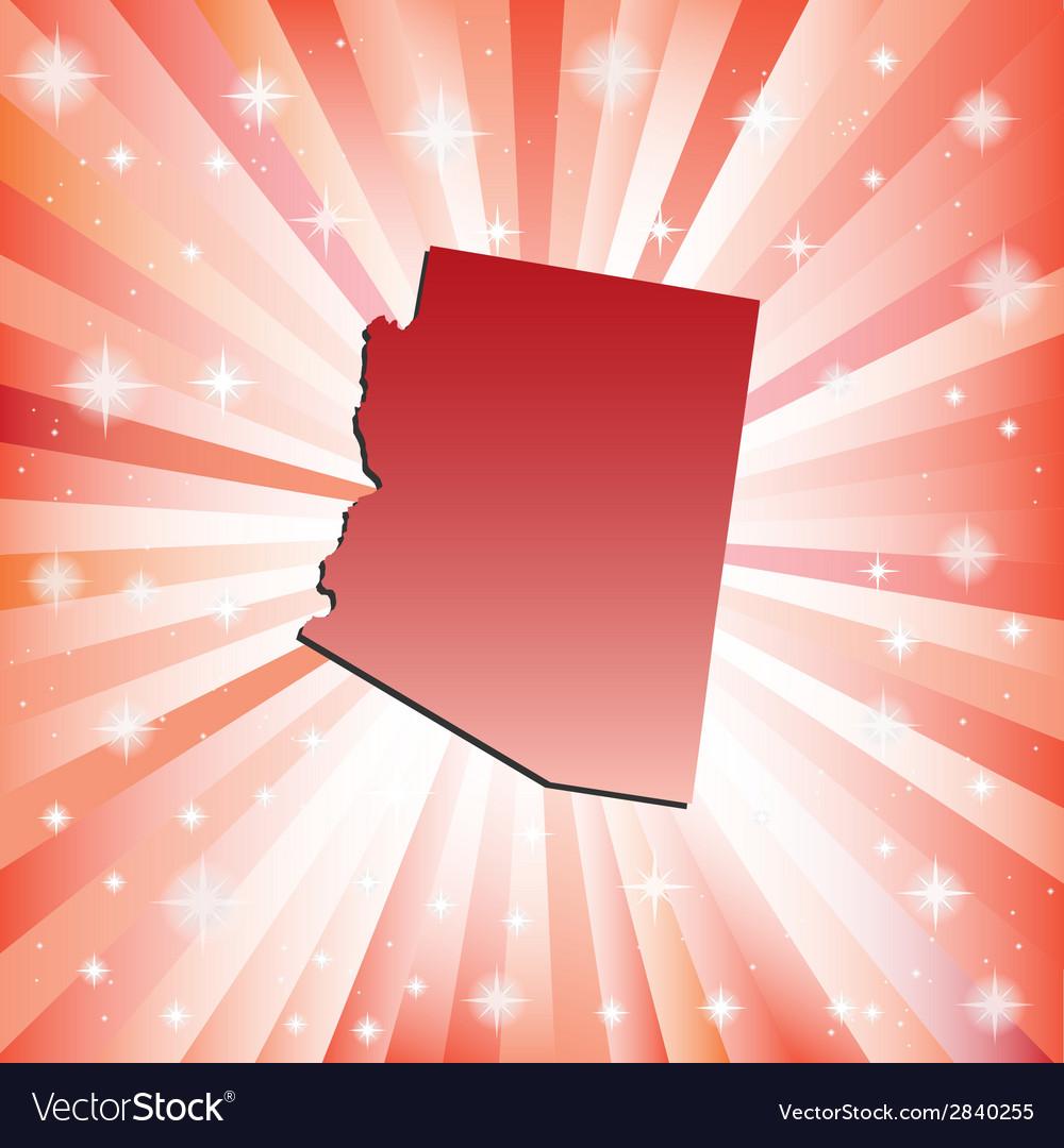 Red Arizona vector image