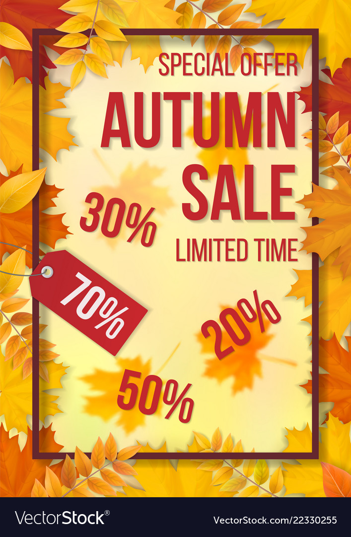 Sale fallen leaves frame