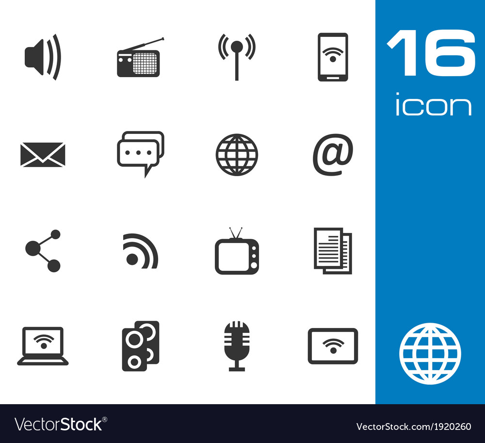Communication and media icon vector image