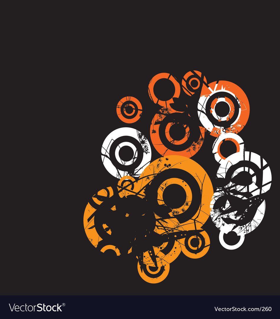 Grunge floral circles vector image