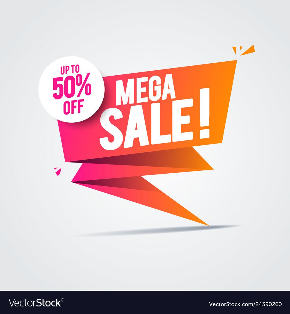 Limited big offer mega sale banner special offer