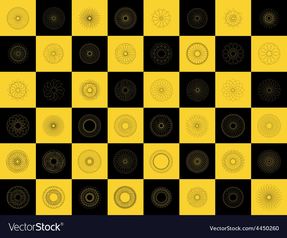 Modern black and yellow geometric shape