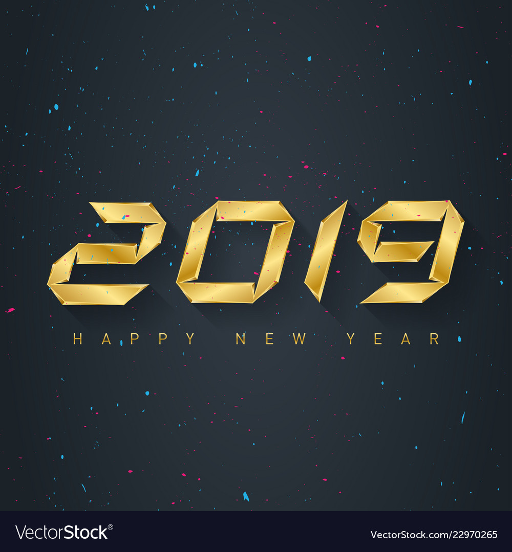 2019 holiday greeting card with confetti and