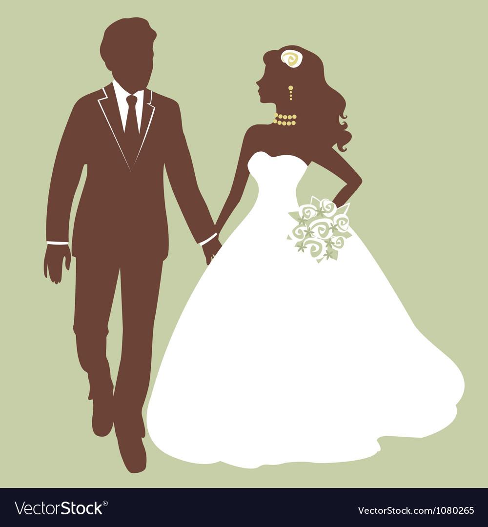 Beautiful wedding couple vector image