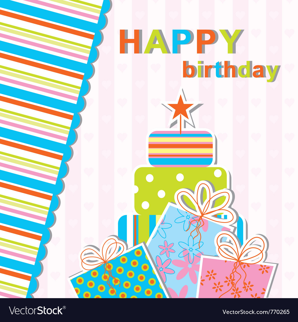 Template birthday greeting card vector 770265 by Tolchi