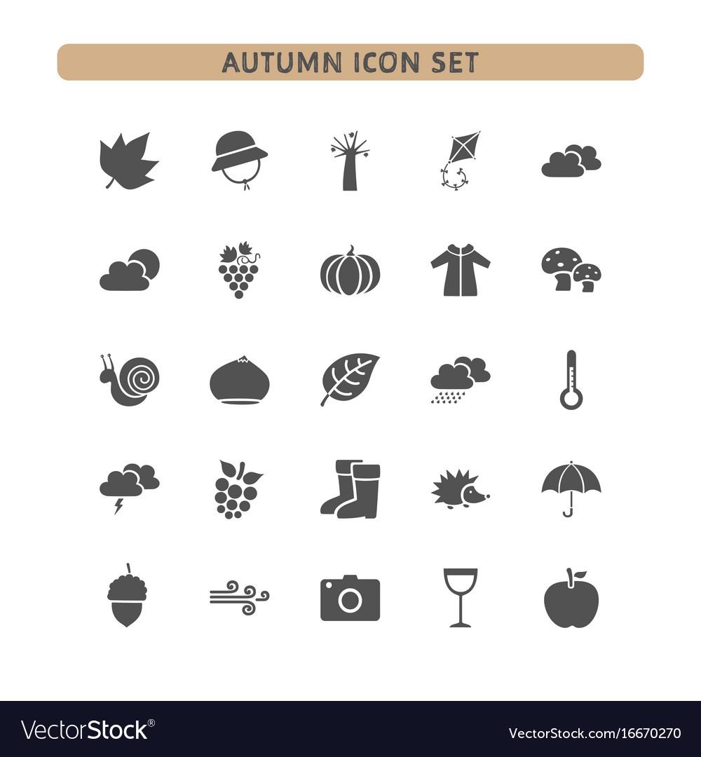 Autumn icon set on a white background