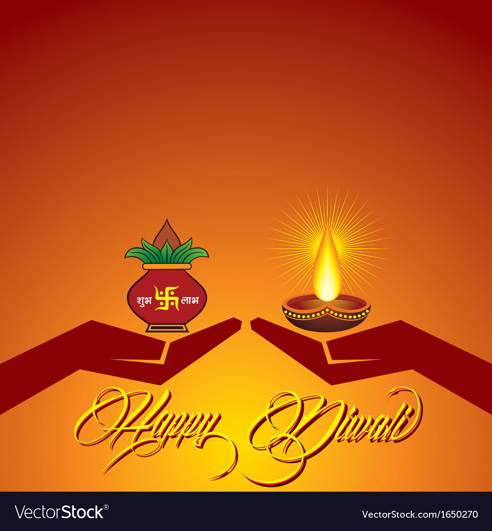 Diwali Greeting Background Royalty Free Vector Image