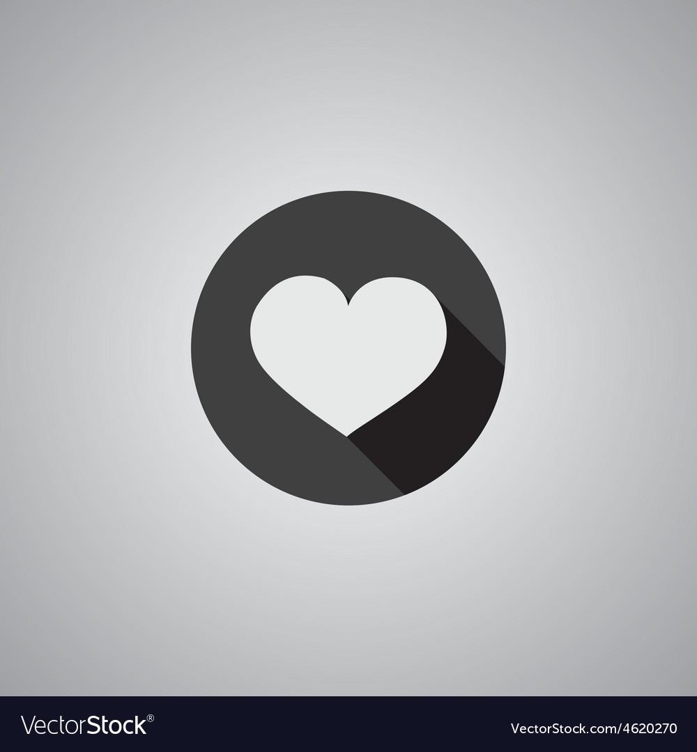 Heart symbol flat