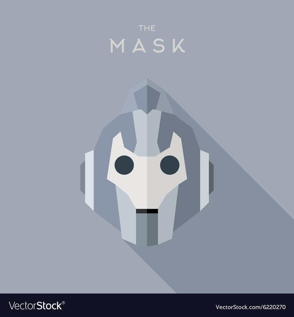 Mask Hero superhero flat style icon logo