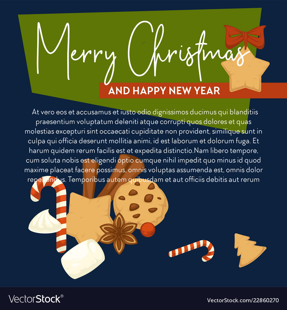 Merry christmas poster with text sample