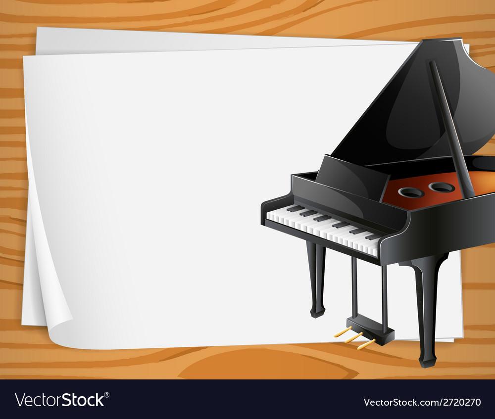 Piano Banner Royalty Free Vector Image Vectorstock