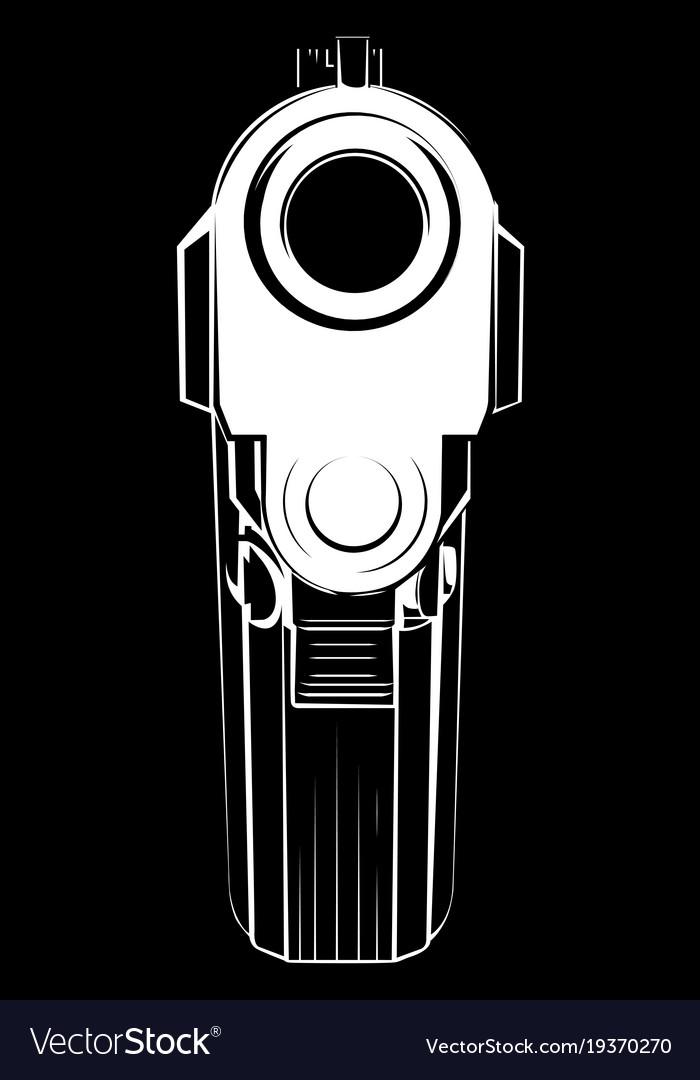Pistol criminal arm pistol